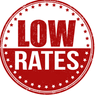 We offer LOW rates!